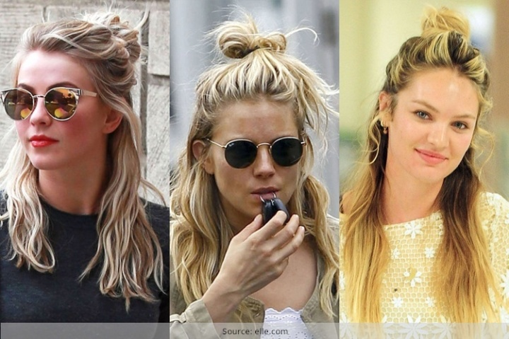 Hairstyles // the half bun
